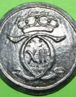 Пуговица шведская. Маленькая 20 мм. XVIII в.