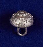 Пуговица из пьютера (pewter) «грибок» 17 мм. XVII-XVIII вв.