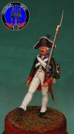 Гренадер (мушкетёр) Преображенского полка 1799 г.