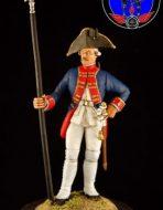 Унтер офицер мушкетёрского Цеге фон Мантейфеля полка с 1756 по 1761год.